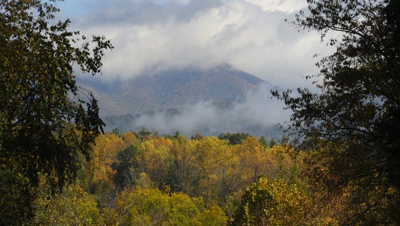 Fall colors start to appear on the Blue Ridge Parkway