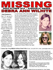 A missing person's flyer Misty Wilhite Walker created