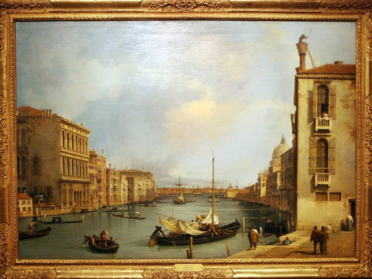 The Grand Canal From the Campo San Vio, 1720-1735 by