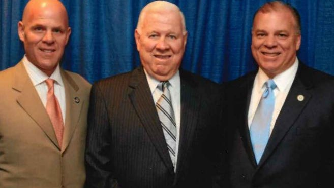 Left to right, Richard Sweeney  (Steve Sweeney's brother), father Robert Sweeney and Steve Sweeney.