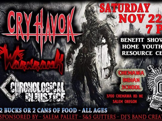 Cry Havok show flyer