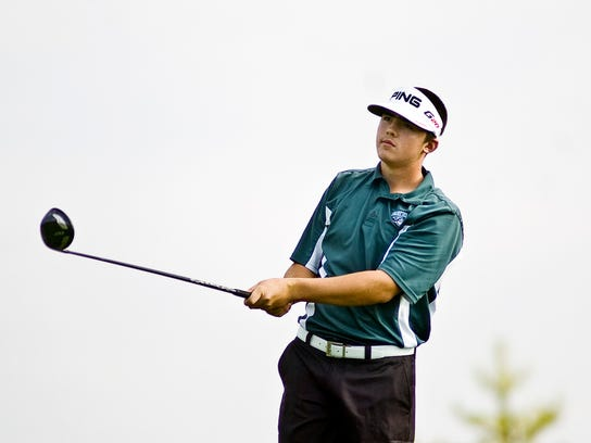 Fairfield's Isaiah Logue became the first YAIAA male golfer since 1984 to win a state championship when the captured the PIAA Class AA title by two strokes on Tuesday. (The Evening Sun -- Brett Berwager)