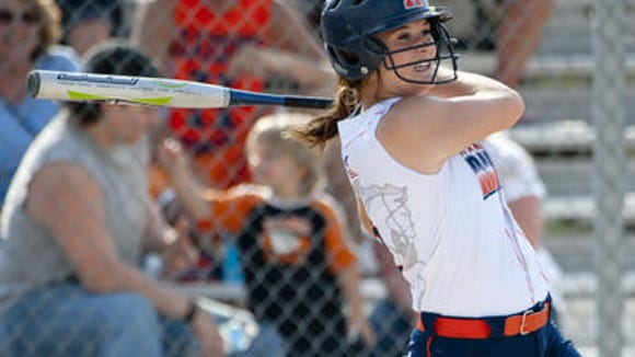 Kaitlyn Carnahan is among the area leaders in batting average, RBIs, home runs and doubles.