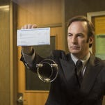 "Bob Odenkirk as attorney Saul Goodman in a scene from ""Better Call Saul."" Odenkirk reprises his ""Breaking Bad"" role in the new prequel, which begins six years before the events of ""Breaking Bad."""