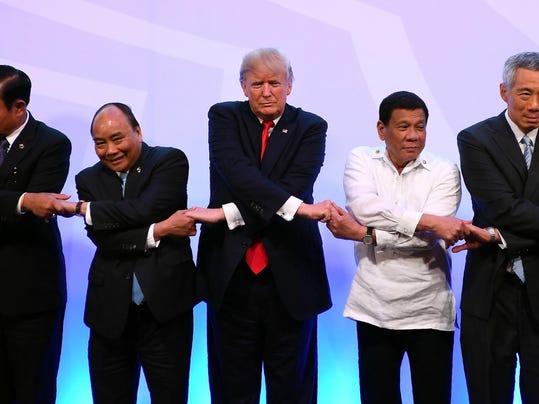 Donald Trump,Rodrigo Duterte,Nguyen Xuan Phuc,Prayuth Chan-ocha