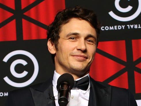 Roastee James Franco speaks backstage. / Christopher Polk, Getty