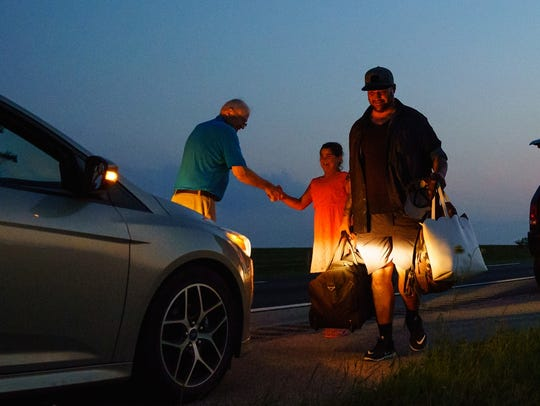Retired Iowa State Trooper Charlie Black meets 8-year-old