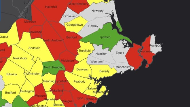 For the first time since the commonwealth began reporting this enhanced community-level data the week of Aug. 10, Beverly and Danvers have both dipped into the yellow designation and are considered to be at moderate risk for COVID transmission.