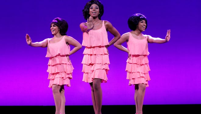"Jasmine Maslanova-Brown (Florence Ballard), Trenyce (Diana Ross) & Quiana Holmes (Mary Wilson) star in ""Motown the Musical."""