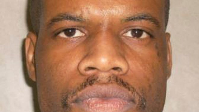 FILE - In this file photo provided by the Oklahoma Department of Corrections, Clayton Lockett is pictured in a photo dated June 29, 2011. Lockett is one of two Oklahoma death row inmates scheduled to be executed who have sued state corrections officials to obtain details about the lethal drugs that will be used to execute them, including their source. (AP Photo/Oklahoma Department of Corrections, File)