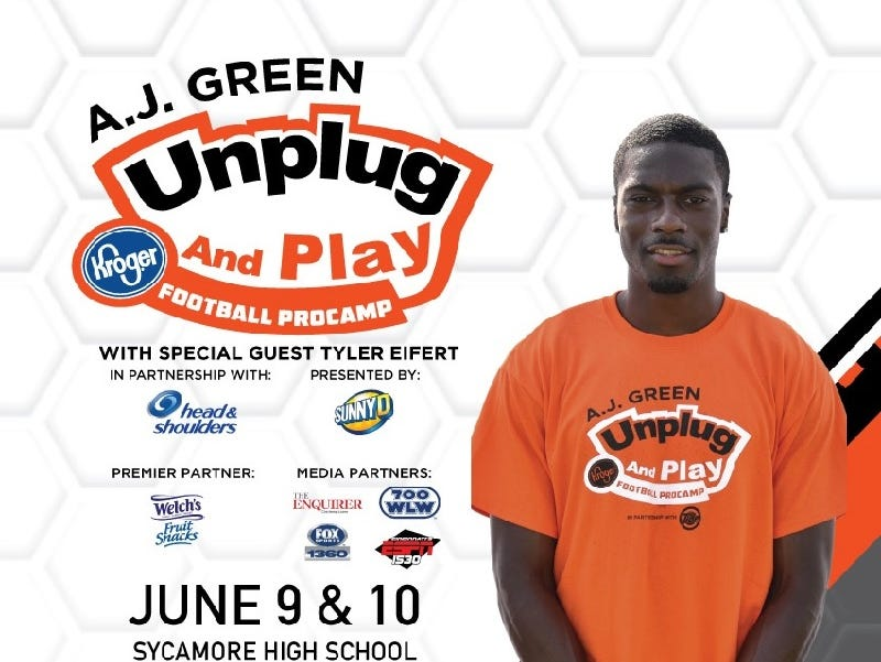 Learn from and interact with Cincinnati Stars A.J. Green and Tyler Eifert - Enter 4/5 - 5/28.