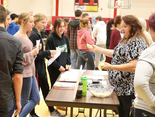 A local job fair at Port Clinton High School continued