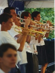 The United Jazz Ensemble performs during the 1995 Iowa City Jazz Festival.