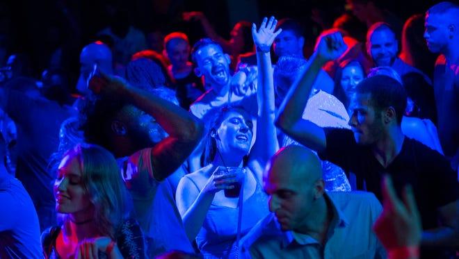 Saturday night crowd fills the dance floor at Porta in Asbury Park.