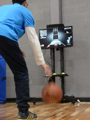 An interactive video machine will record dribbling techniques for players to examine and then work further to improve their skills.