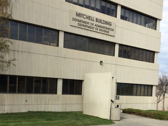 The Mitchell Building Department of Revenue Department of Administration in Helena.