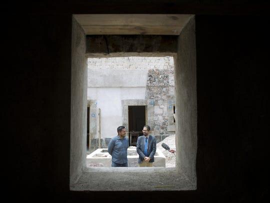 Architect Emanuel Gonzalez, left, and Mariano Leyva,