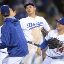 In six regular-season starts with the Dodgers, Rich Hill went 3-2 with a 1.83 ERA. He also threw six shutout innings in beating the Chicago Cubs in the NL Championship Series.
