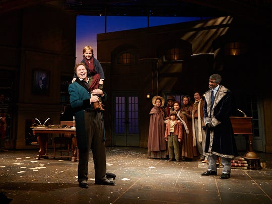 The cast of 'A Christmas Carol' at Actors Theatre of