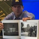 Jim Harbaugh, photographer debut massive Michigan photo book