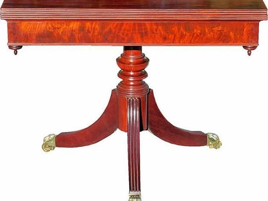 Baltimore Quaker John Needles made this mahogany card table around 1820 – when card playing was popular among fashionable elites and contrary to the Quaker discipline.