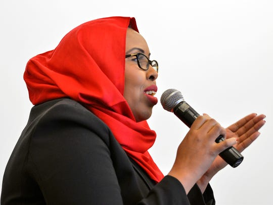 Somali community panelist and St. Cloud Technical & Community College instructor Hudda Ibrahim talks about going to school in the area and coming back to teach social justice classes.