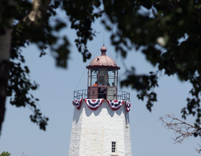 Gateway National Recreation Area at Sandy Hook celebrated the 250 anniversary of the Sandy Hook Lighthouse. Tours of the lighthouse, Revolutionary War living historians, tours of the lighthouse keepers quarters, along with food and beverages were all part of the event.    On Saturday June 14,2014 Photo: Mark R. Sullivan/Staff Photographer
