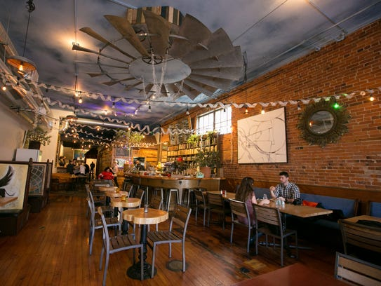 The dining space at Taproot Lounge & Cafe in downtown