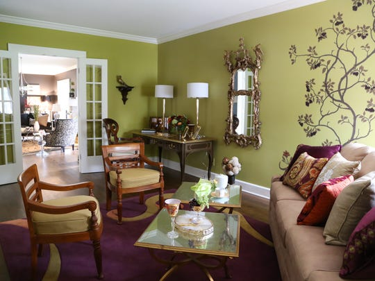Color rules in this sitting area of the house at 4044 N. Pennsylvania St.