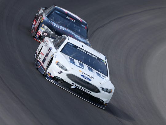 Brad Keselowski's No. 2 Miller Lite Ford failed postrace inspection following Sunday's Pure Michigan 400 NASCAR Sprint Cup race in which he finished third.