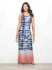 Go for an easy, breezy look in the dbSunday tie-dye maxi dress. $38 at Dressbarn.