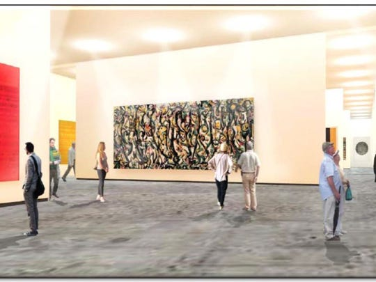 University of Iowa officials recently released this illustrated image of the display space in a proposed, new $50 million UI Museum of Art.