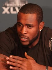 In this photo from January 2014, Seattle Seahawks safety Kam Chancellor participates in a Super Bowl news conference at the Westin Jersey City hotel.