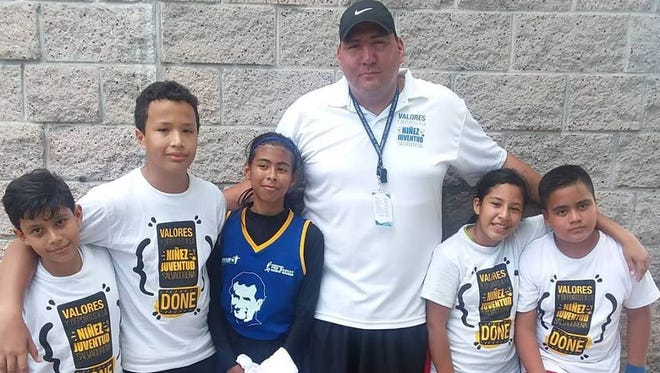 Former Montana Grizzly basketball player Mike Chavez is in El Salvador this week as part of group from UM's Sports Diplomacy program. Chavez and other former Grizzly hoop stars are helping with several youth basketball camps.