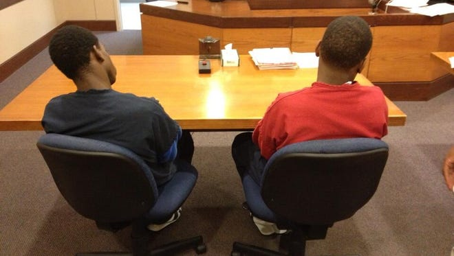 Kristopher Casey and Adrian Henderson appear in Hamilton County Juvenile Court.