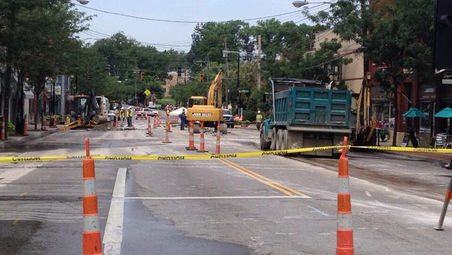 Madison Road is closed in O'Bryonville as crews clean up a gas leak.