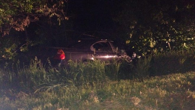 Police arrested two people after a car chase that began in Des Moines and ended in a ditch near Indianola on Wednesday night.