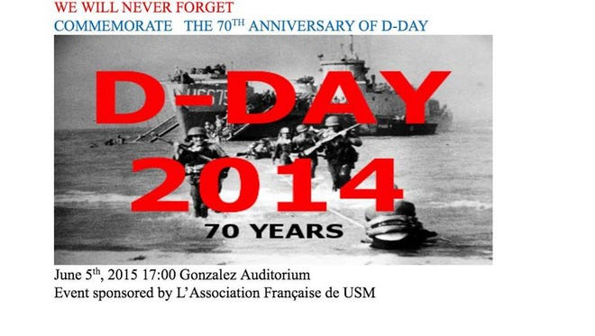USM will hold a D-Day anniversary event today in the Liberal Arts Building.