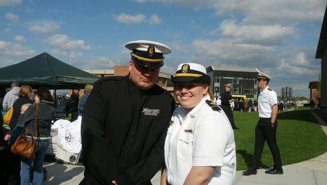 That's Cadet Third Class Emma Crandall (Penfield) on the right with First Classman John Crawford (Webster).