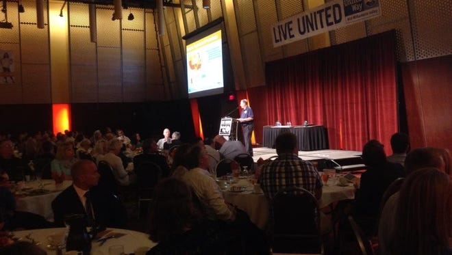 The United Way kickoff luncheon at the Salem Civic Center.