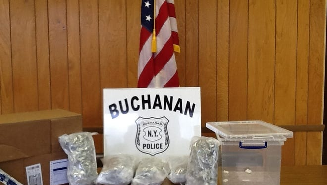 Photo provided by Buchanan police of more than 5 lbs. of marijuana, which the department intercepted after it was shipped from California to a local group home.