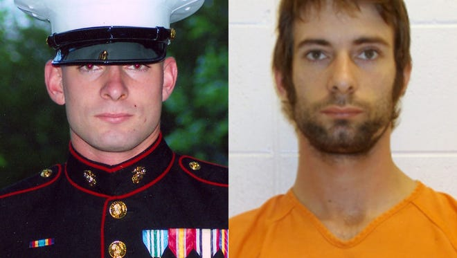 ADVANCE FOR USE SUNDAY, FEB. 8, 2014 AND THEREAFTER - This combination of photos from the Routh family and the Erath County Sheriff's Office shows Eddie Ray Routh. The former Marine is accused of killing Navy SEAL sniper Chris Kyle and Chad Littlefield on Feb. 2, 2013. (AP Photo/Routh Family, Erath County Sheriff's Office)