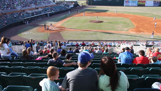 File photos -- Fans watch the game during Star Wars night at the Ballpark at Jackson.