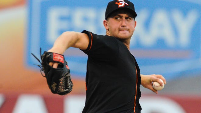 Shorebirds' starter Bennett Parry began with three perfect innings before slipping in the fourth.