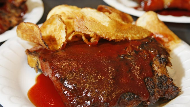 Montgomery Inn's ribs and Saratoga chips.