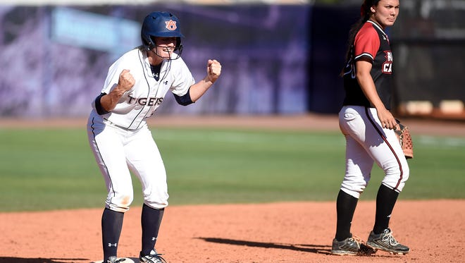Morgan Estell and the Auburn Tigers lost to LSU in the Women's College World Series.