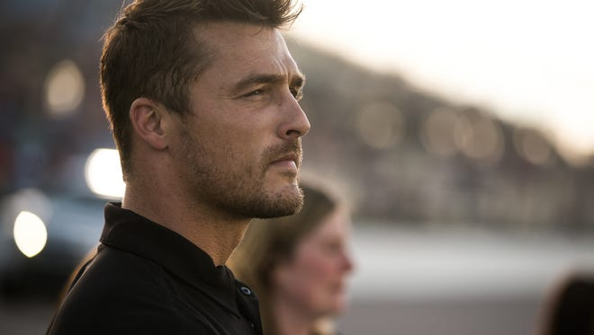 Chris Soules was the Grand Marshal at the Nascar Camping World Truck Series American Ethanol 200 at the Iowa Speedway in Newton on Friday, June 19, 2015.