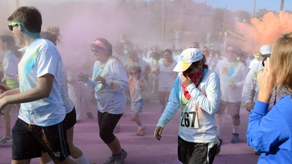 Some 6,000 runners are expected for the Asheville Color Run 5K in North Asheville on Saturday.