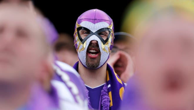 A Louisville FC soccer fan donned a professional wrestling mask as he watched his team go down in defeat to Montreal. Aug. 5, 2015.
