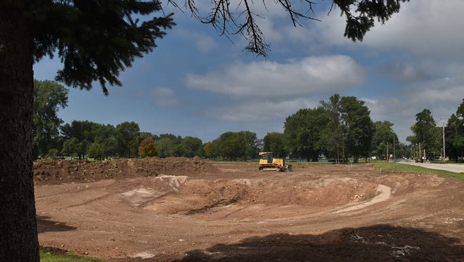 Phase One of a wetlands restoration program includes the creation of settling ponds at Sunset Park on Bay Shore Drive, Sturgeon Bay. Little Lake is in the background.